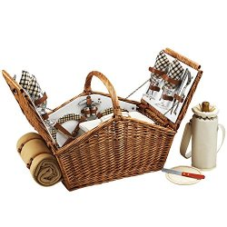 Picnic At Ascot Huntsman Basket For With Blanket, London