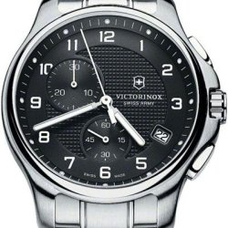 Victorinox Officers Chronograph Stainless Steel Mens Watch With Pocket Knife 241592.1