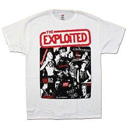 Exploited - Collage - White T-Shirt, Size: Medium, Color: White