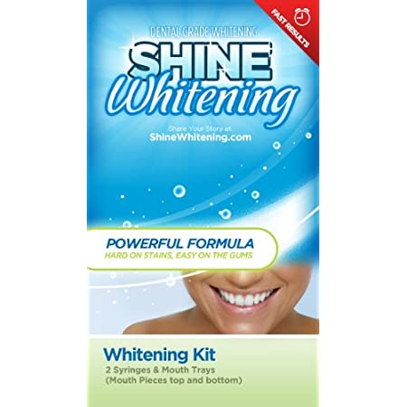 Whiten your smile with Shine Whitening advanced home teeth whitening kit. Shine Whitening uses the same professional grade whitening gel that dentists use - for a fraction of the cost. Simply load the gel into the included mouth trays, and insert s...