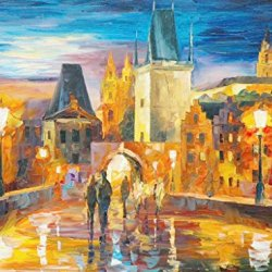 Modern Art Canva Go To Shipping With Lover Painting Knife Paintng Wall Art Canvas Unframed Painting 32X24In/80X60Cm