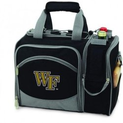Wake Forest Demon Deacons Malibu Insulated Picnic Shoulder Pack/Bag - Burgundy W/Embroidery