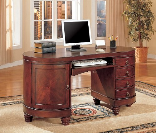 Picture of Comfortable Kidney Shaped Home Office Computer Desk by Coaster (B000STLX2C) (Computer Desks)