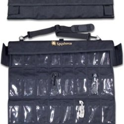 Spyderco Spyderpac Large Tri-Fold Secure Scratch-Proof Storage Black Thirty-Two Deep Pockets