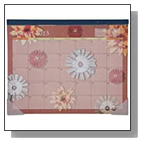AT-A-GLANCE Visual Organizer Recycled Flowers Desk Pad, 22 x 17 Inches, 2013 (5035-12)