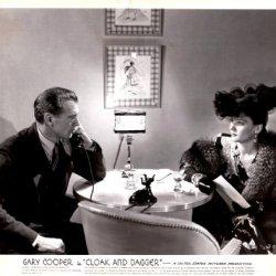 "Gary Cooper And Lilli Palmer....""Cloak And Dagger""....Movie Still....1946"