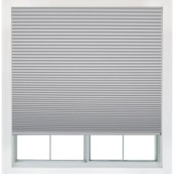 Easy Lift, 36-Inch By 64-Inch, Trim-At-Home (Fits Windows 21-Inches To 36-Inches Wide) Cordless Honeycomb Cellular Shade, Light Blocking, White