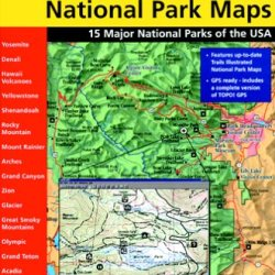 National Geographic Trailsmart 15 Major National Parks U.S.A. Topographical Map Cd-Rom (Windows)