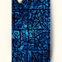 Oofit Phone Case Design With Irregular Blue Pattern For Apple Iphone 4 4S 4G