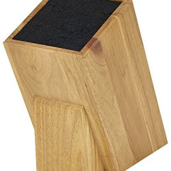 Kapoosh Dice Knife Block, Light Oak Woodgrain