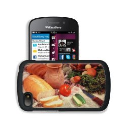 Cucumber Bread Tomato Baked Goods Herbs Knife Blackberry Sqn100 Q10 Snap Cover Premium Leather Design Back Plate Case Customized Made To Order Support Ready 4 13/16 Inch (123Mm) X 2 12/16 Inch (70Mm) X 8/16 Inch (13Mm) Liil Q10 Professional Cases Touch Ac