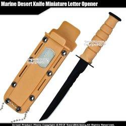 Small Marine Desert Knife Replica Letter Opener Mini Dagger Tanto Serrated Edge