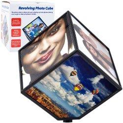 Revolving Photo Cube - Magically Displays 6 Photos Revolving Photo Cube - Magically Displays 6 Phot