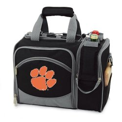 Exclusive By Picnictime Insulated Pack With Picnic Service For 46/Black-Clemson University (Digital Print)