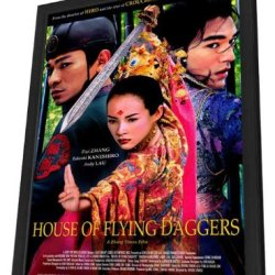 House Of Flying Daggers 27 X 40 Movie Poster - Style A - In Deluxe Wood Frame