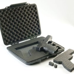 Pelican P1075 Black Pistol And Accessory Progear Hardcase With Foam