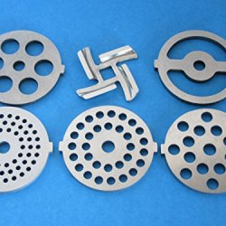 6-Pc Set Replacement Knife And Discs For Waring Pro Nesco, Kalorik, Sunmile, Oster, Rival, Back To Basics Meat Grinder