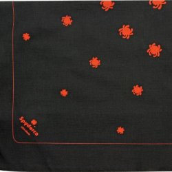 Spyderco Knives Band1 Spyderco Bandanna Black/Red 100% Black Cotton Construction Printed With Red Spyderco Bug