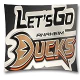 """Cotton Linen NHL Square Decorative Throw Pillow Case,Cushion Cover,Anaheim Ducks Sofa Throw Pillows,18 """"X18 """",Boys"""