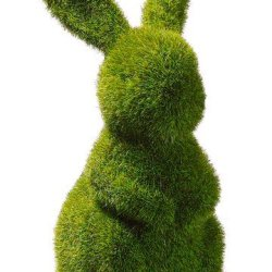 Moss Covered Bunny 7.5""