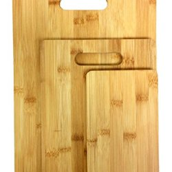 Bamboo Cutting Boards Set Of 3 - High Quality Durable Thick Kitchen Cutting Boards Premium Eco-Friendly Bamboo Wooden Chopping Boards For Fruit, Meat, Bread, Vegetable, Cheese Cutting Boards Brand Perfect Life Ideastm