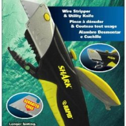 Rapid Tools Rt00022 Shark Utility Knife With Wire Cutters And 5 Serrated Blades