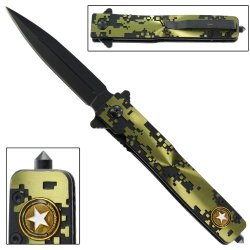 United States Army Encipher Emergency Glass Breaker Folding Pocket Knife