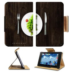 Green Grapes Fork Knife Dish Google Nexus 7 First Generation Flip Case Stand Magnetic Cover Open Ports Customized Made To Order Support Ready Premium Deluxe Pu Leather 7 7/8 Inch (200Mm) X 5 Inch (127Mm) X 11/16 Inch (17Mm) Luxlady Nexus 7 Professional Ne