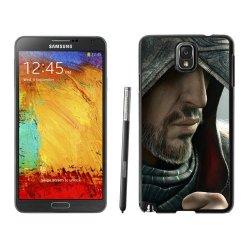 Diy Assassins Creed Desmond Miles Hood Face Knife Beard Fur Note 3Black Phone Case