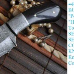 Sale Is Now On - Handmade Damascus Hunting Knife- Handmade - Work Of Art