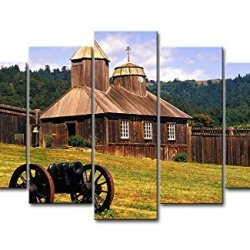 5 Panel Wall Art Painting California Usa Historic Park Prints On Canvas The Picture City Pictures Oil For Home Modern Decoration Print Decor
