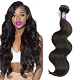 """Mornice Hair 3 Bundles 300G 8A 100% Unprocessed Brazilian Remy Body Wave Virgin Hair Weft Weave Real Human Hair Extensions Natural Black (16""""18""""20"""")"""