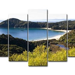 5 Piece Wall Art Painting Abel Tasman National Park Beach Small Bay Hill Forest Prints On Canvas The Picture Landscape Pictures Oil For Home Modern Decoration Print Decor For Kitchen