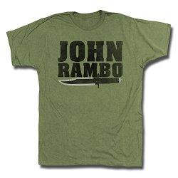 Rambo 1980'S Action Thriller War Movie John Rambo Knife Army Green Adult Tshirt