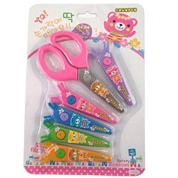 Korea Design Safety Lace Scissors With 6 Types Of Knife-Edge
