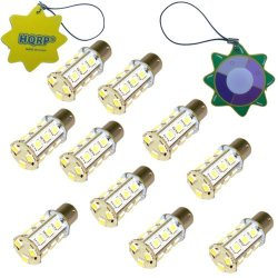 Hqrp 10-Pack Ba15S Bayonet Base 18 Leds Smd 5050 Led Bulb Natural White For #1141 #1156 Jayco Rv Interior / Porch Lights Replacement + Hqrp Uv Meter