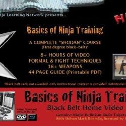 """Dvd: """"Basics Of Ninja Training"""" Ninjutsu Blackbelt Video Course (Bujinkan) On 9 Dvd Discs"""