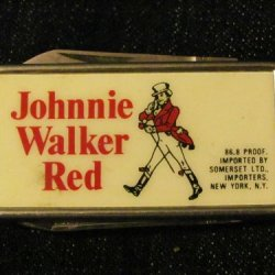 Johnnie Walker Red - Money Clip W/Pocket Knife & Nail File - Made By Barlow