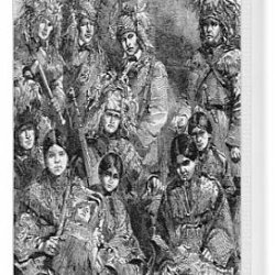 Canvas Print Of Ojibway And Potawatamie Native American Indians, 1856