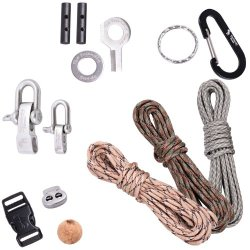 Premium Paracord Kit - Diy Paracord Bundle Includes 3 X 350Lb Military Grade Paracord (Total 36 Feet), More Than Ten Accessories, Including Steel Shackles, Buckles, Carabiner, Firestarters And Instructions For Making Paracord Bracelets And Keychains - Lif