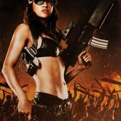 Machete She Holding Gun Action Movie Film Poster Print 24X36