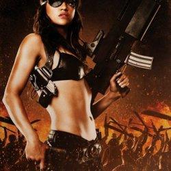 Machete She Holding Gun Action Movie Film Poster Print 24X36