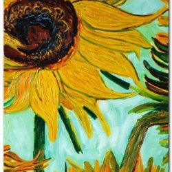 Sangu Sunflowers For Abstract Oil Painting Gift Canvas Wall Art