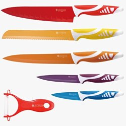 Zillinger Zl-720 6 Piece Stainless Steel Rainbow Knife Set