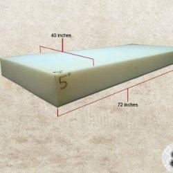 """Foam Sheet 5"""" X 40"""" X 72"""""""