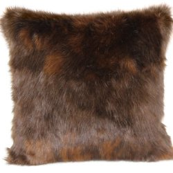 Brentwood Fox Fur 18-Inch Knife Edge Pillow, Auburn