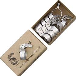 Handy Twine Original Metal Ring Folding Knife,Curved Blade Orginal Metal 14