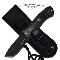 U.S. Army A-1016Bk Aluminum Handle Fixed Blade Knife, 9.25-Inch