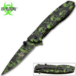 Z-Slayer Trigger Assisted Knife - Undead Zombie Survival - Green