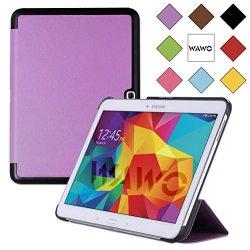 Wawo Samsung Galaxy Tab 4 10.1 Inch Tablet Smart Cover Creative Fold Case - Purple